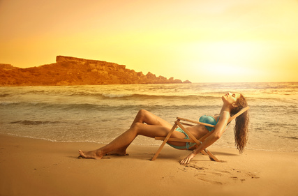 bronzage bord de mer