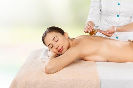 massage à l'huile d'olive