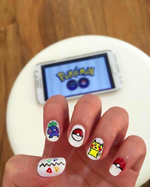 Nail art Pokemon