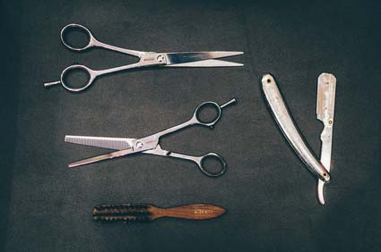 Outils de barbier
